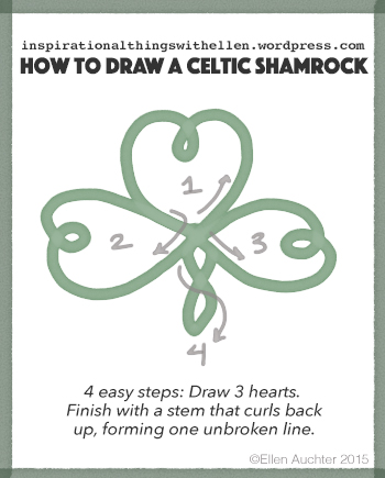 draw Celtic knot shamrock