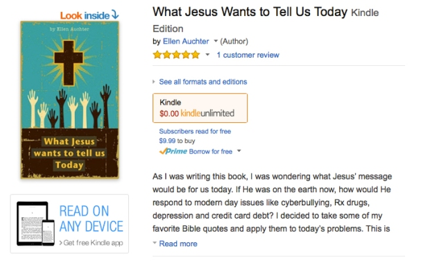 my Jesus book on Amazon