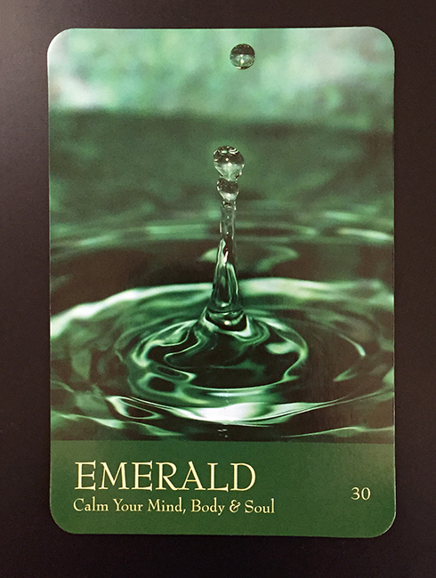 emerald green color card