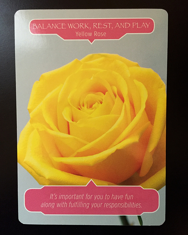 oracle card yellow rose flower