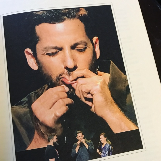 David Blaine sews his lip image