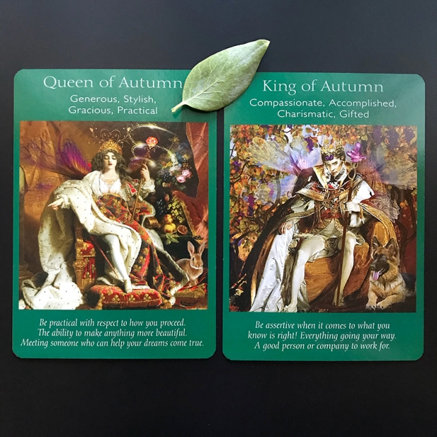 King and Queen of Autumn Tarot Cards