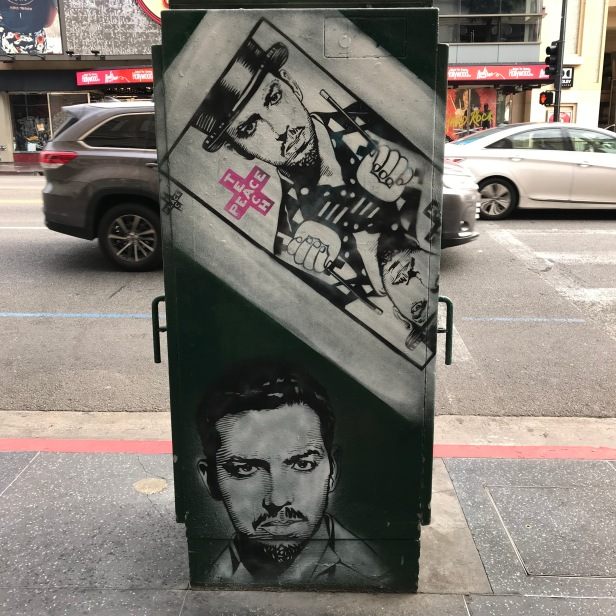 David Blaine street art.