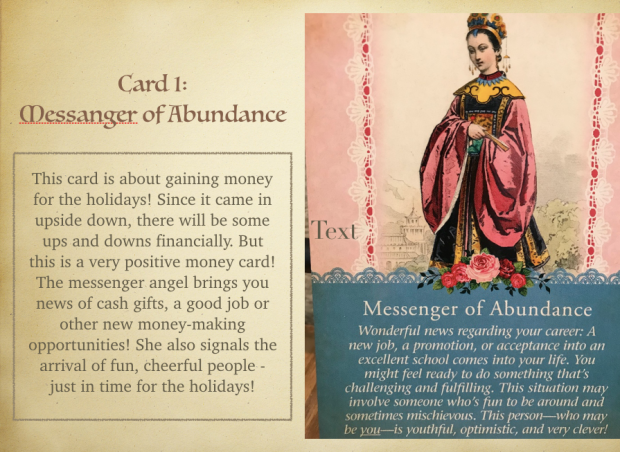 Messenger of Abundance card